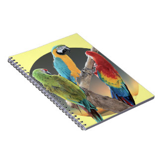 Macaw Parrots Spiral Note Books