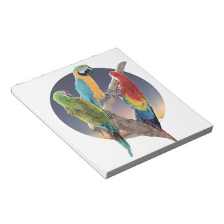 Macaw Parrots Notepad