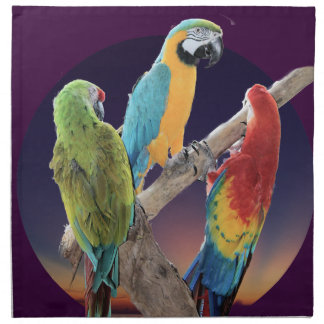 Macaw Parrots Printed Napkin