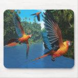 Macaw rojo cubano 2 Mousepad Alfombrilla De Ratón