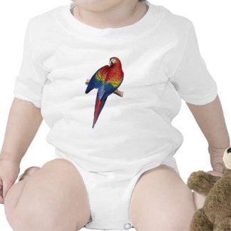 Macaw rojo y amarillo trajes de bebé