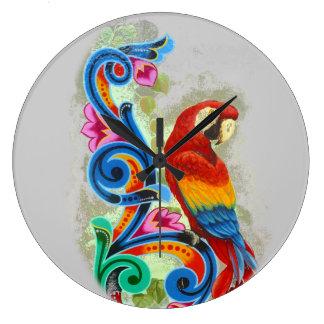 macaw round wallclocks