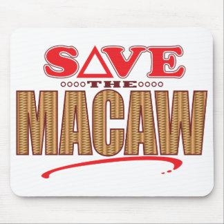Macaw Save Mouse Pad