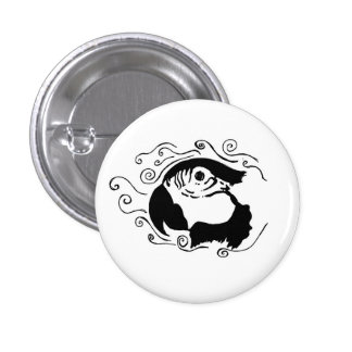 Macaw Silhouette Button