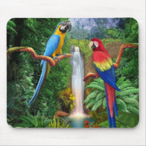 Macaw Tropical Parrots Mouse Pad