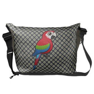Macaw Verde-con alas Bolsa Messenger