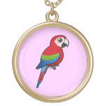 Macaw Verde-con alas Joyerias