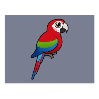 Macaw Verde-con alas Postal