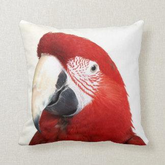 Macaw verde del ala almohadas