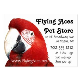 Macaw verde del ala tarjetas de visita grandes