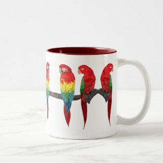 Macaw y Lory Drinkware Tazas