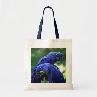 Macaws del jacinto bolsa tela barata