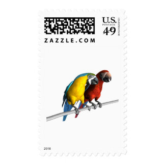 Macaws in Love Stamps