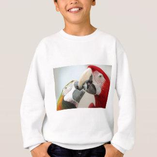macaws kiss sweatshirt
