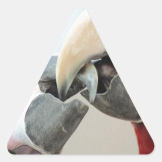 macaws kiss triangle sticker