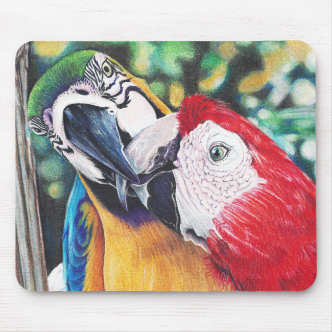 Macaws mouse pad