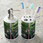 Macaws Toothbrush Holder and Soap Dispenser Set