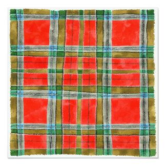 """MacBain Tartan 5.25"""" Square Invitation 5.25"""" Square Invitation Card"""
