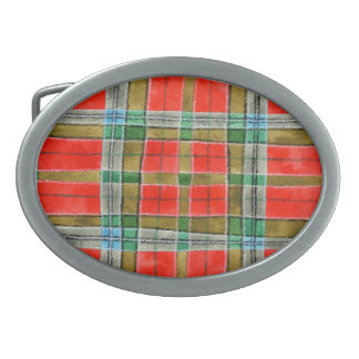 MacBain Tartan Oval Belt Buckle