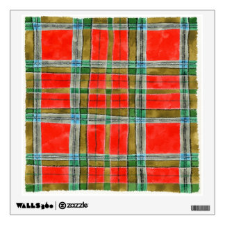 MacBain Tartan Square Wall Decal