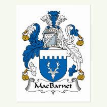 MacBarnet Family Crest Postcard