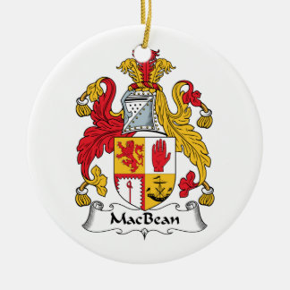 MacBean Family Crest Christmas Ornament
