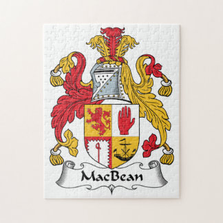 MacBean Family Crest Jigsaw Puzzle