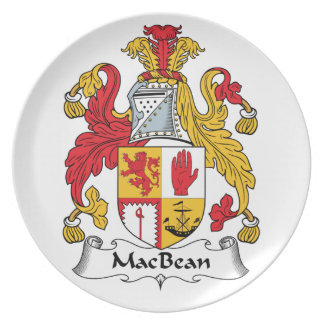 MacBean Family Crest Party Plate