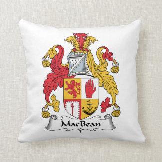 MacBean Family Crest Throw Pillow