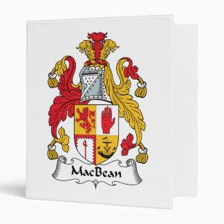 MacBean Family Crest Vinyl Binders
