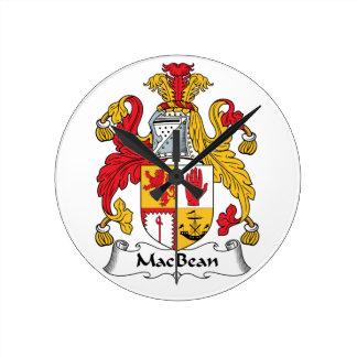 MacBean Family Crest Wall Clocks