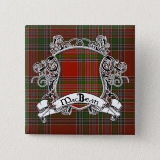 MacBean Tartan Shield Button