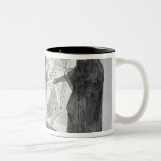 Macbeth and the Armed Head Two-Tone Coffee Mug