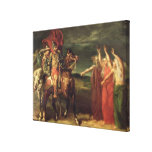 Macbeth and the Three Witches, 1855 Canvas Print