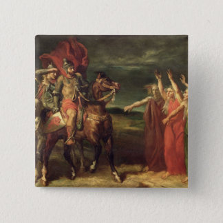 Macbeth and the Three Witches, 1855 Pinback Button