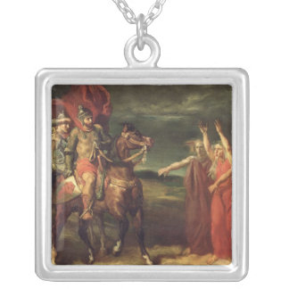 Macbeth and the Three Witches, 1855 Silver Plated Necklace
