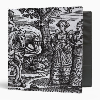 Macbeth, Banquo and the Three Witches 3 Ring Binder