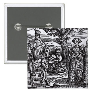 Macbeth, Banquo and the Three Witches Button