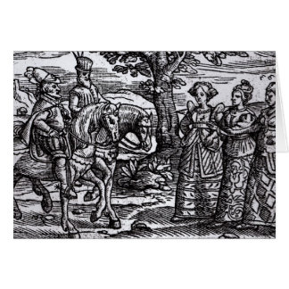 Macbeth, Banquo and the Three Witches Card