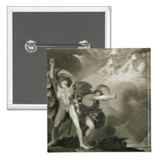 Macbeth, Banquo and the Three Witches on the Heath Pinback Button