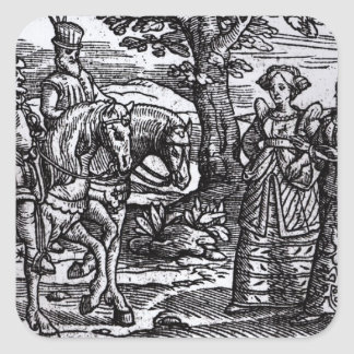 Macbeth, Banquo and the Three Witches Square Sticker