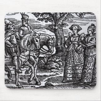 Macbeth, Banquo y las tres brujas Alfombrilla De Raton