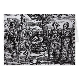 Macbeth, Banquo y las tres brujas Tarjeta De Felicitación