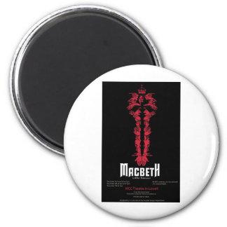 Macbeth (con la información) imán para frigorífico