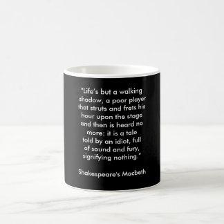 Macbeth de Shakespeare - taza de café