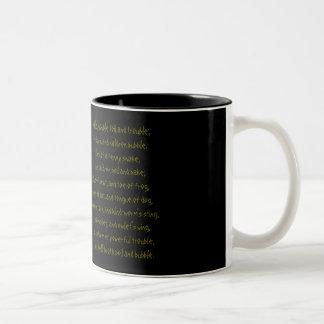 Macbeth Double Double toil and trouble mug