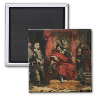 Macbeth instructing the Murderers 2 Inch Square Magnet