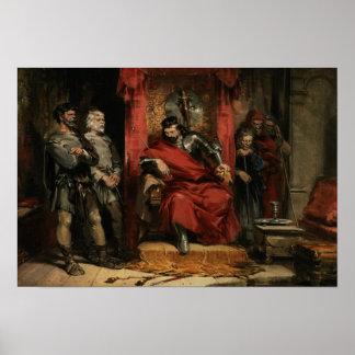 Macbeth instructing the Murderers Poster