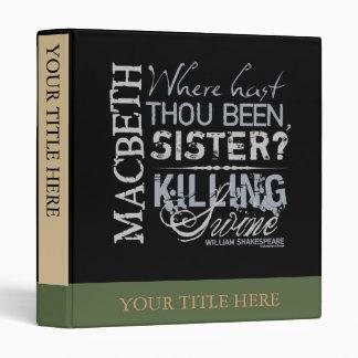 Macbeth Killing Swine Quote 3 Ring Binder