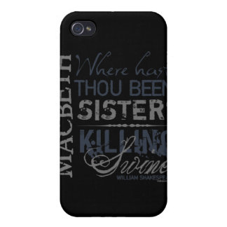 Macbeth Killing Swine Quote Covers For iPhone 4